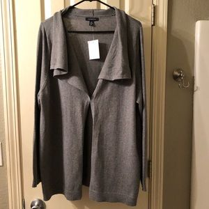 Lands End Gray Cardigan Sweater Women's Size 2X